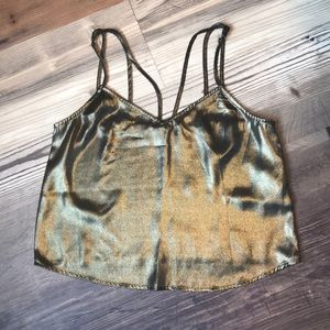 Abercrombie & Fitch • Strappy Gold Metallic Cami